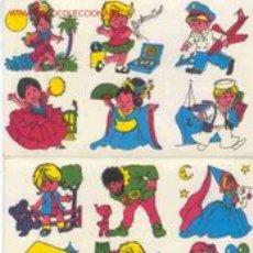 Coleccionismo: 24 CALCOMANÍAS INFANTILES - MARCA CS - AÑOS 70. Lote 25621321
