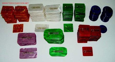 ANTIGUO LOTE DE FICHAS PROFESIONALES DE CASINO - HAY 50 FICHAS DE 500 PESETAS, 50 FICHAS DE 1.000 PE (Coleccionismo - Varios)