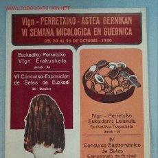 Coleccionismo: SEMANA MICOLOGICA GUERNICA. Lote 2442671