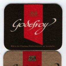 Coleccionismo: DOS -POSA VASOS DE CERVEZAS DE CASA GODEFROY. Lote 9742341