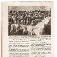 Coleccionismo: RECORTE NOTICIA.AÑO1916.PLASENCIA.ALMUERZO A LOS MENDIGOS.EJERCICIOS ESPIRITUALES A LOS MENDIGOS.. Lote 9898605