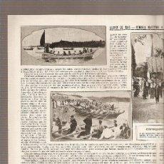 Coleccionismo: DOBLE HOJA REPORTAJE.AÑO1916.LLORET DE MAR.ROMERIA MARITIMA A LA ERMITA DE SANTA CRISTINA.. Lote 9903805