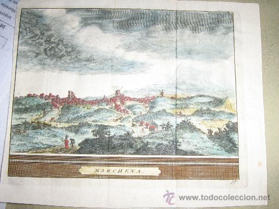 VISTA DE MARCHENA, 1715 ORIGINAL (Coleccionismo - Laminas, Programas y Otros Documentos)