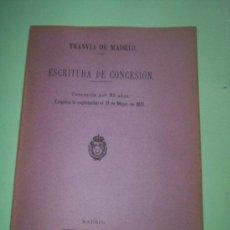 Coleccionismo: LOTE 42 FOLLETOS DIFERENTES TRANVIAS DE MADRID 1895-1906. Lote 41671305