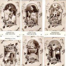 Coleccionismo: LOTE D OCHO ESTAMPAS RELIGIOSAS. Lote 10129863