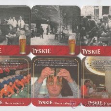 Coleccionismo: SEIS -POSA VASOS DE CERVEZAS DE CASA TYSKIE . Lote 10211355