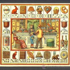 Coleccionismo: ANTIGUA LITOGRAFIA DE UN JUEGO DE MESA FRANCES. DOMINO (20 X 18 CMS). Lote 222351902