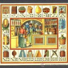 Coleccionismo: ANTIGUA LITOGRAFIA DE UN JUEGO DE MESA FRANCES. DOMINO (20 X 18 CMS). Lote 222351940