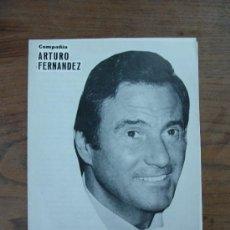 Coleccionismo: PROGRAMA DEL TEATRO POLIORAMA. COMPAÑÍA ARTURO FERNÁNDEZ. 'HOMENAJE'. 1980. . Lote 10404812