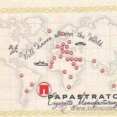 Coleccionismo: ETIQUETA DE PAPASTRATOS CIGARETTE MANUFACTURING CO.. Lote 10488053