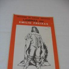 Coleccionismo: LECCIONES DE DIBUJO ARTISTICO LAMINAS POR EMILIO FREIXAS SERIE 15. Lote 13492551