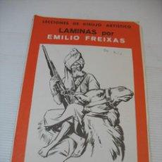 Coleccionismo: LECCIONES DE DIBUJO ARTISTICO LAMINAS POR EMILIO FREIXAS SERIE 37. Lote 13492694