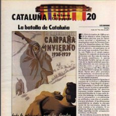Coleccionismo: FASCICULO Nº 20 - CATALUÑA EN LA GUERRA CIVIL ESPAÑOLA - BIBLIOTECA DE LA VANGUARDIA. Lote 10590438