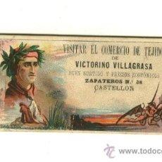 Coleccionismo: TARJETA COMERCIAL - COMERCIO DE TEJIDOS - VICTORINO VILLAGRASA - CASTELLON. Lote 20783804
