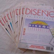 Coleccionismo: CURSO PRÁCTICO DE DISEÑO GRÁFICO - LOTE DE 12 FASCÍCULOS Nº 23,24,26,27,28,29,34,36,37,38,39 Y 40.. Lote 24229080