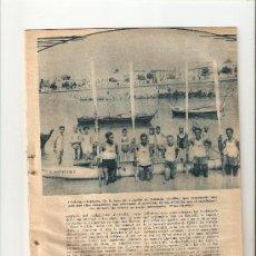 Coleccionismo: HOJA NOTICIA.AÑOS 30.SOLDADOS BASE DE AVIACION DE TABLADA RECORREN SEVILLA CORDOBA EN YOLA.. Lote 11858258