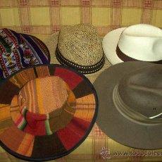 Coleccionismo: LOTE 5 SOMBREROS DE TODO EL MUNDO. SUDÁFRICA, CUBA, PERÚ Y MEDITERRÁNEO.. Lote 16936902