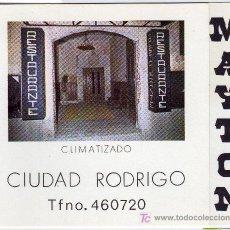 Coleccionismo: TARJETA COMERCIAL RESTAURANTE MAYTON CIUDAD RODRIGO. Lote 12019234