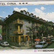 Coleccionismo: TARJETA COMERCIAL HOTEL CIRIA BENASQUE. Lote 12020601