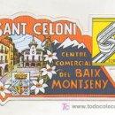 Coleccionismo: ADHESIVO DE SANT CELONI. CENTRE COMERCIAL DEL BAIX MONTSENY. UNIÓ DE BOTIGUERS I COMERCIANTS. . Lote 16898496