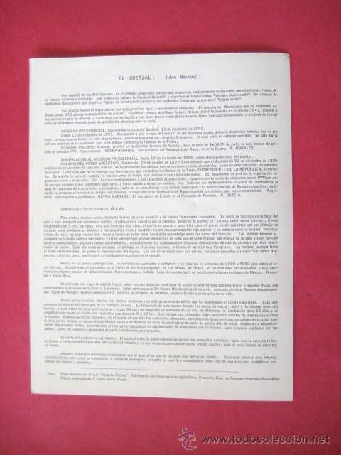 Coleccionismo: LAMINA PARA COLOREAR. COLEGIO GUATEMALA. EL QUETZAL. AÑOS 70..ENVIO GRATIS¡¡¡ - Foto 2 - 12508885