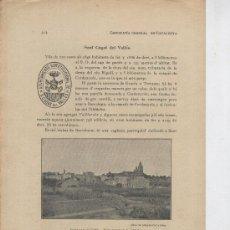 Coleccionismo: 3 FULLES. ANY 1913. RESUM HISTORIC DE RUBI.SANT CUGAT DEL VALLES. 12 FOTOS. SEGELL MUNICIPAL.. Lote 177849480