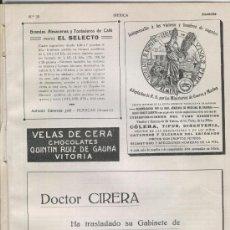 Coleccionismo: HOJA SOLA PUBLICIDA. AÑO 1914. ALMERIA. PILDORAS VIVES PEREZ. FARMACIA. . Lote 13163922