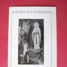 Coleccionismo: ESTAMPITA NTRA. SRA. DE LOURDES. ...ENVIO GRATIS¡¡¡. Lote 13173718