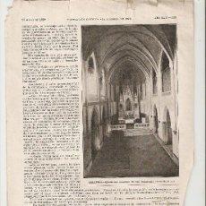 Coleccionismo: HOJAS REPORTAJE.AÑO 1908.BELLPUIG.LERIDA.CATALUNYA.. Lote 13526364