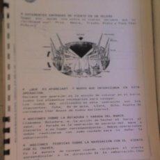 Coleccionismo: ALICANTE .REAL CLUB REGATAS CURSO VELA LIGERA BARCOS NAUTICA MECANOSCRITO ORIGINAL. Lote 26625670