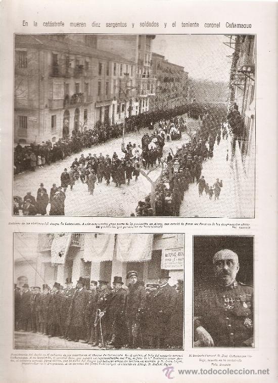Coleccionismo: HOJAS REPORTAJE AÑO 1922 ALCOY ONTENIENTE ACCIDENTE TREN MILITAR DESTROZADO EN LA ESTACION VICTIMAS - Foto 2 - 13626631