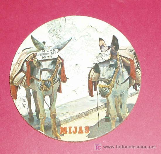 POSAVASOS MIJAS. BURROS - TAXI Nº 14 Y Nº 15. (Coleccionismo - Varios)