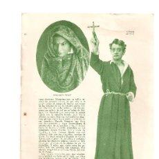 Coleccionismo: HOJAS REPORTAJE AÑO 1936.EL TEATRO ESPAÑOL EN 1936.. Lote 14029601