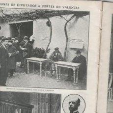 Coleccionismo: RECORTE DE PRENSA. AÑO 1908. ELECCIONES DIPUTADOS EN VALENCIA. JULIO CERVERA. . Lote 14086461