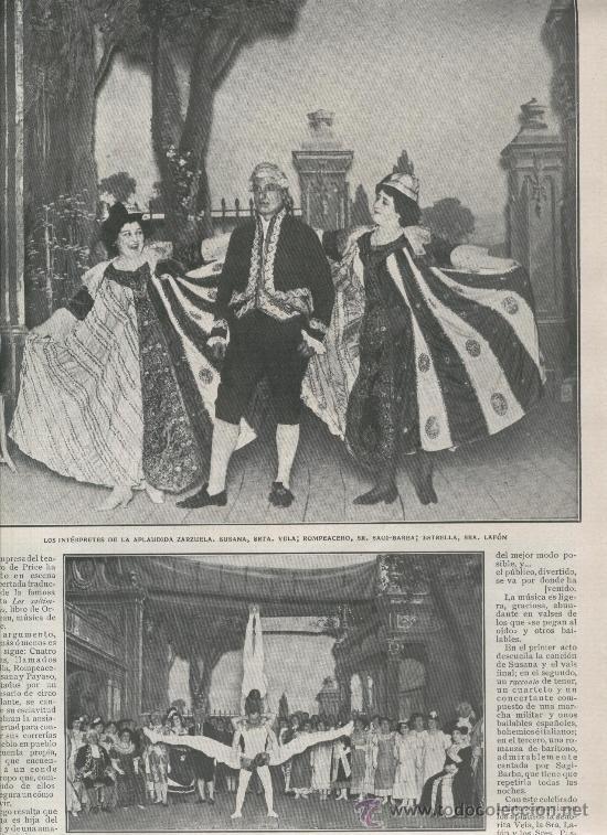 RECORTE DE PRENSA. AÑO 1908.LOS SALTIMBANQUIS. ACROBATAS BRAGGAARS. CIRCO. (Coleccionismo - Laminas, Programas y Otros Documentos)