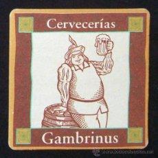 Coleccionismo: POSAVASOS CERVEZA CRUZCAMPO - CERVECERÍA GAMBRINUS - BEBIDA - - POSAVASO POSA VASOS. Lote 14384957