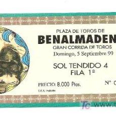 Coleccionismo: ENTRADA DE TOROS 1999. Lote 207123808