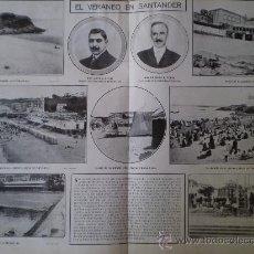 Coleccionismo: DOBLE HOJA EL VERANEO EN SANTANDER. Lote 14728444