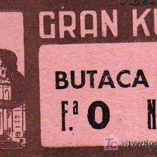 Coleccionismo: ENTRADA - GRAN KURSAAL - SAN SEBASTIAN - AÑO 1950. Lote 14786997