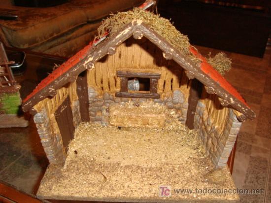 casa portal de belen platico base madera x cm aprox