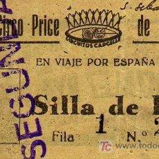Coleccionismo: ENTRADA - CIRCO PRICE DE MADRID - SAN SEBASTIAN - AÑO 1946. Lote 14792776