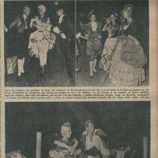 Coleccionismo: RECORTE DE PRENSA. AÑO 1953. MARQUES DE CUEVAS. GRAN FIESTA. BEISTEGUI. EN BIARRITZ. . Lote 14798929