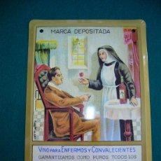 Coleccionismo: REPRODUCCION CHAPA ANUNCIO DE PUBLICIDAD VINOS PARA ENFERMOS HIJOS DE ANTONIO BARCELO MALAGA. Lote 27571542