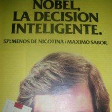 Coleccionismo: NOBEL Y ROTHMANS, 2 HOJAS DE PUBLICIDAD DE TABACO.. Lote 15214243