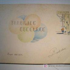 Collectionnisme: TRABAJOS ESCOLARES - CURSO 1943-1944 - CUADERNO ORIGINAL. Lote 15232865