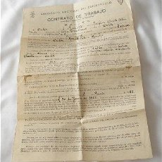 Sammelleidenschaft Papier - CONTRATO DE TRABAJO 1951 SINDICATO DEL ESPECTACULO CADIZ - 19374778