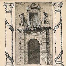 Coleccionismo: * MURCIA * PORTADA DEL PALACIO DEL MARQUÉS DE ALMÓDOVAR - 1911. Lote 20865972