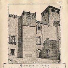 Coleccionismo: * CÁCERES * PALACIO DE LOS GOLFINES - 1911. Lote 20865974