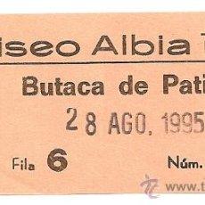 Coleccionismo: ENTRADA COLISEO ALBIA DE BILBAO. Lote 15598363