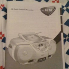 Coleccionismo: MANUAL DE USUARIO. CD-RADIO-CASSETTE AZ 1018 DE PHILLIPS. EN 11 IDIOMAS.. Lote 16153645